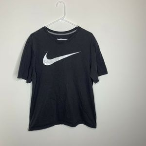 Nike Mens XL Grey and White Swoosh Logo Shirt